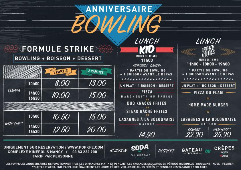 tarif anniversaire bowling nimes